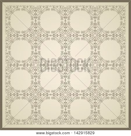 flat design geometrical circular pattern background vector illustration