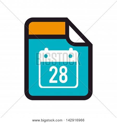 calendar file archive day document format type presentation vector illustration isolated