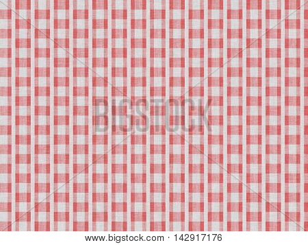 Red abstract pattern on white cotton fabric