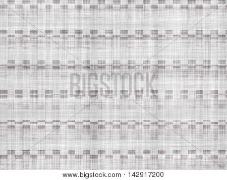 Grey rough fabric with abstract technical pattern.