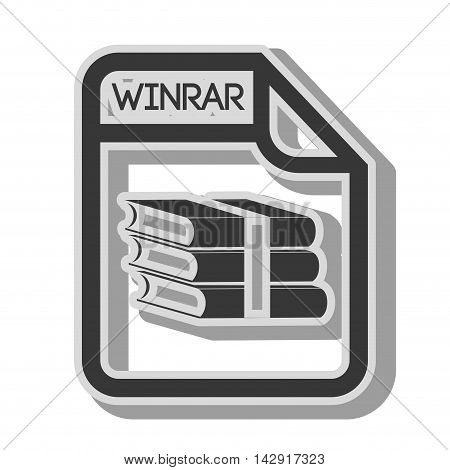 winrar format archive file page document type extension vector illustration isolated