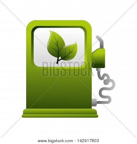ecology fuel natural global green environment eco pump vector illustration isolated