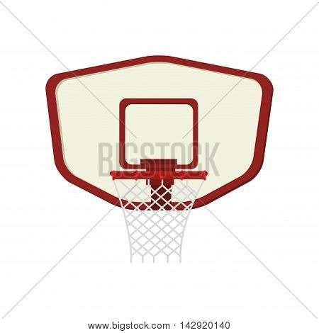 net basketball board sport ball basket front equipment hoop vector illustration isolated