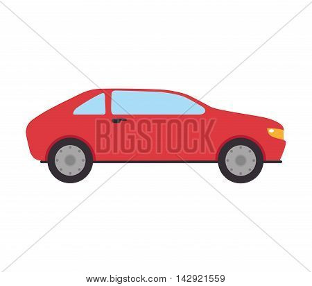 car automobile auto transport vehicle side hatchback  vector  illustration isolated