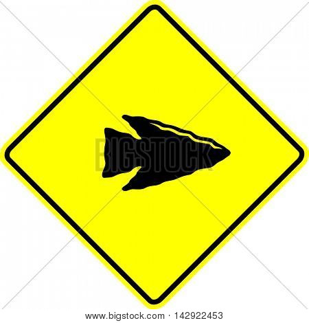 stone arrow point sign