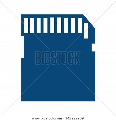 sd card electronic technology secure digital device memory drive vector illustration isolated