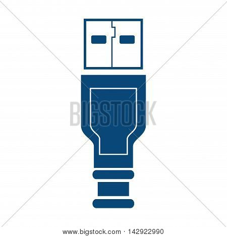usb cable plug portable electronic connect drive vector illustration isolated