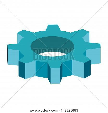 gear cog wheel industry industrial mechanical object vector illustration isolated
