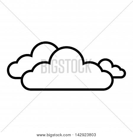 cloud clear weather sky cloudy meteorology silhouette vector illustration isolated