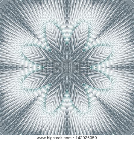 Kaleidoscopic gray pattern. The image is computer graphics created using various programs. It can be used in the design of your site design textile printing industry in a variety of design projects.