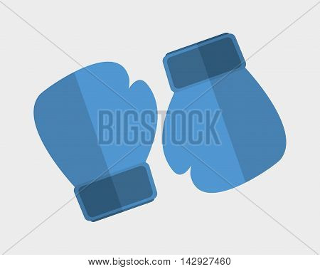 glove boxing sport training icon. Colorful and flat design. Vector illustration