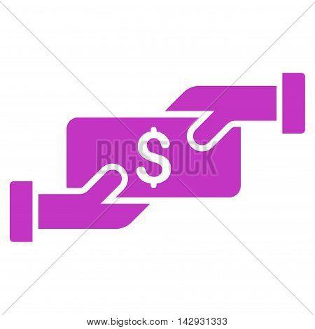 Payment icon. Vector style is flat iconic symbol with rounded angles, violet color, white background.