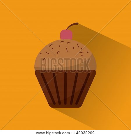 muffin food bakery shop traditional icon. Colorful design. Vector illustration