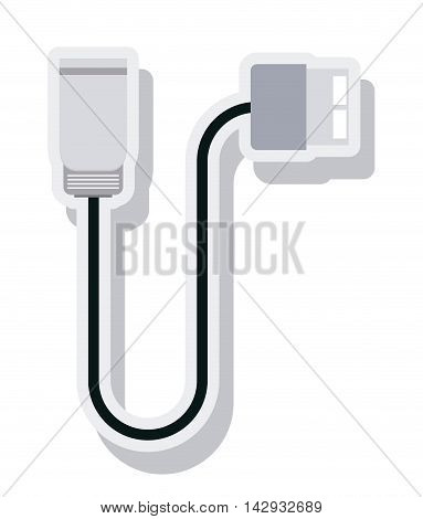 wire cable usb connection isolated icon vector illustration design