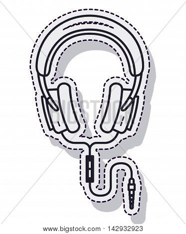 hearphones music sound isolated vector illustration design