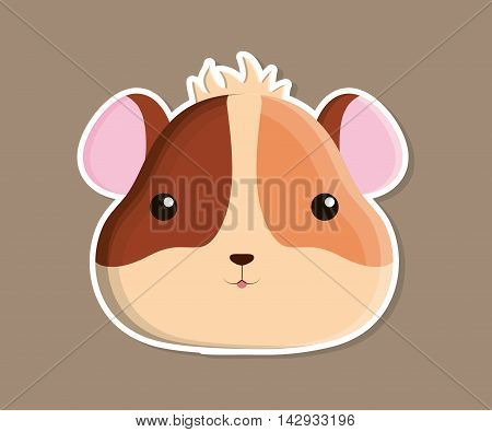 hamster animal cute little cartoon icon. Colorful and flat design. Vector illustration