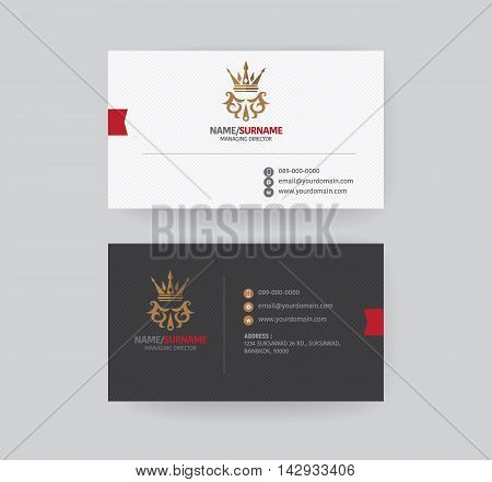 Modern business card template. Name card design. Symbol and logo, Lay out business card.