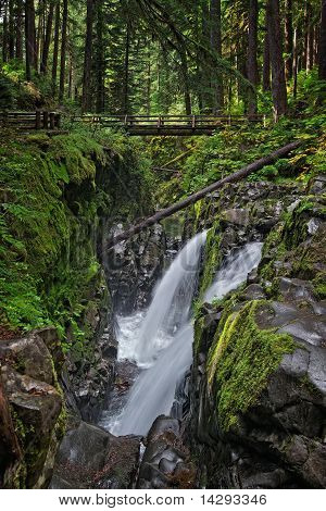 Sol Duc Falls in Olympic National Park, Washington USA