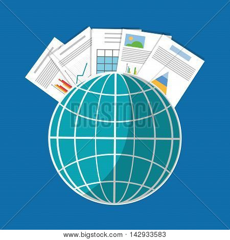 Spreadsheet global infographic icon. Colorful design. Vector illustration