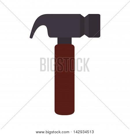 hammer tool storage workshop construction carpenter utensil vector illustration isolated
