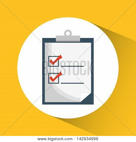 check list document planner mark icon. Flat and Colorfull illustration. Vector graphic