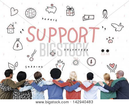 Support Donations Charity Foundation Concept