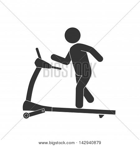 walker gym equipment sport training exercise firness vector illustration isolated