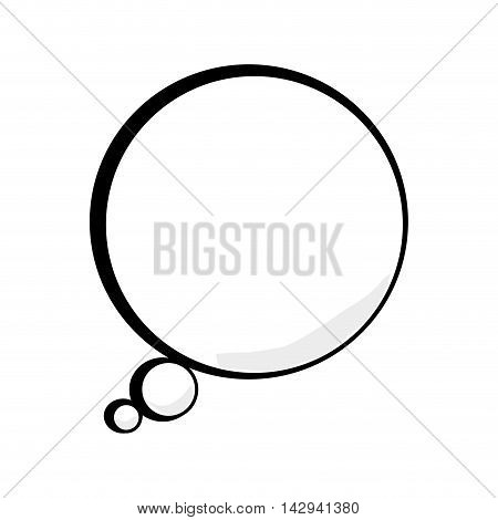 bubble talk thinking comic talk speak cartoon vector illustration isolated