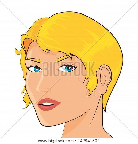 women pop art female face beauty femenine vintage vector illustration isolated