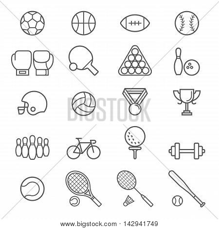 Group of sport icons set. Vector Illustrations.