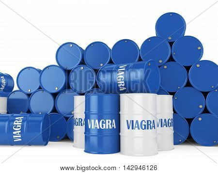 3D Rendering Many Containers Viagra