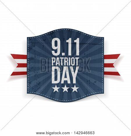 Eleventh September Patriot Day national Banner. Vector Illustration
