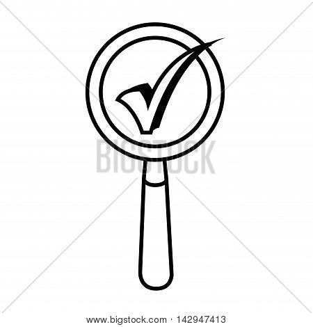 lupe magnifying glass search explore check instrument focus examine vector illustration isolated