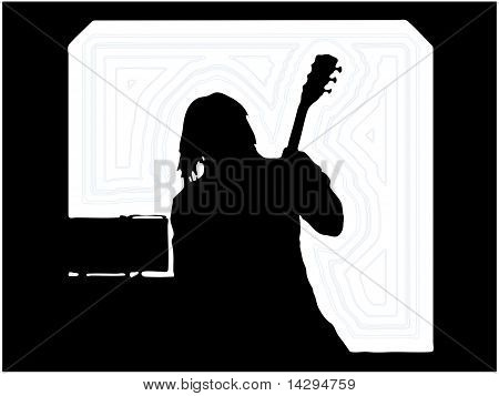 Guitarist Musician Silhouette...