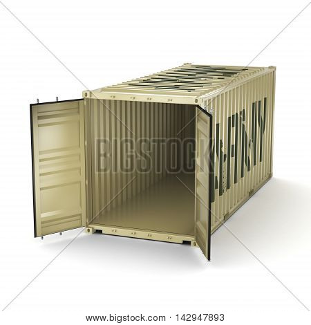 3D Rendering Army Container