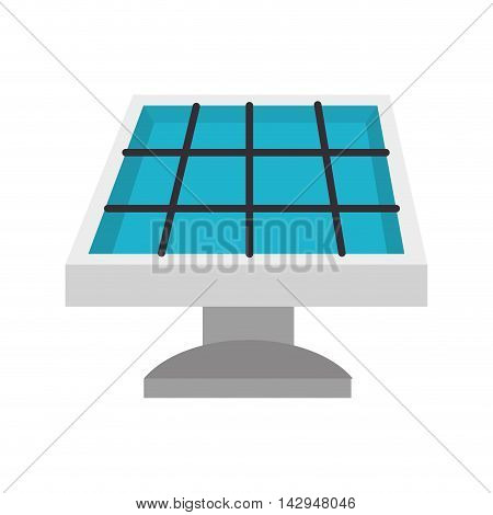 solar panel light electricity ecology save environmental vector illustration isolated