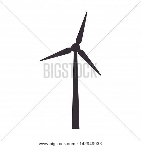 eolic fan wind electricity ecology turbine energy power vector illustration isolated