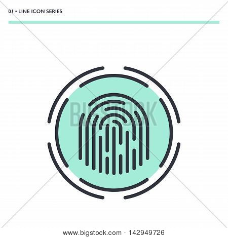 Vector Fingerprint Scanner Icon