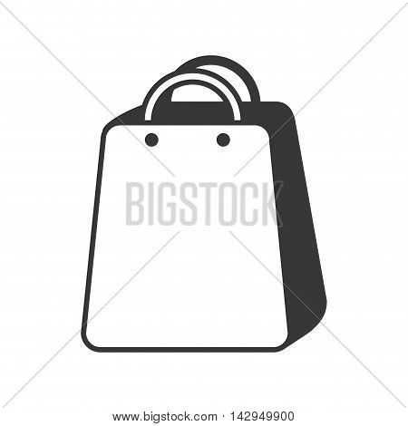 bag shop shopping gift packet store paper purchase vector illustration isolated