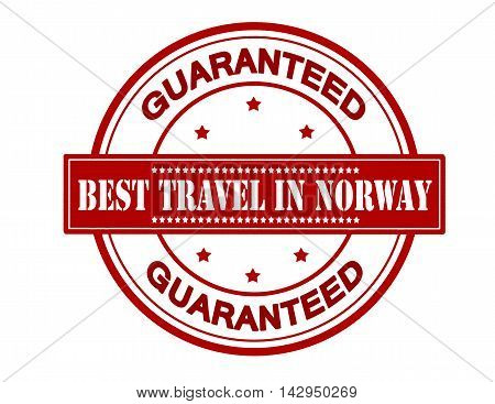 Rubber stamp with text best travel in Norway inside vector illustration