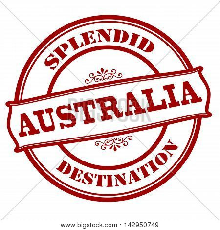 Rubber stamp with text splendid destination Australia inside vector illustration