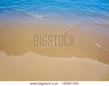 Sand With Beach And Blue Tropical Sea