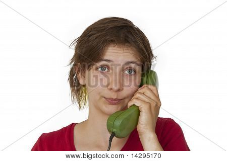 Woman During Phone Call