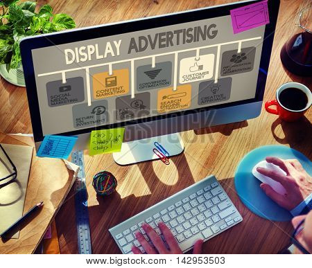 Display Advertising Marketing Commercial Concept