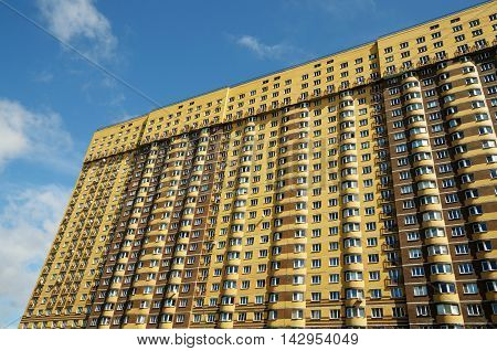 Residential building in the city built in the new area.