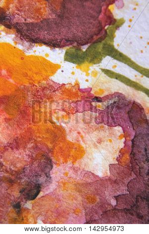 Burgundy and Yellow Watercolour Textures 7