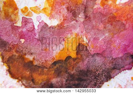 Burgundy and Yellow Watercolour Textures 5