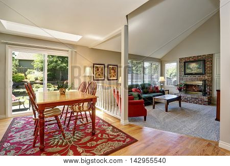 Traditional Dining Area. Open Floor Plan. Connected To Living Room.