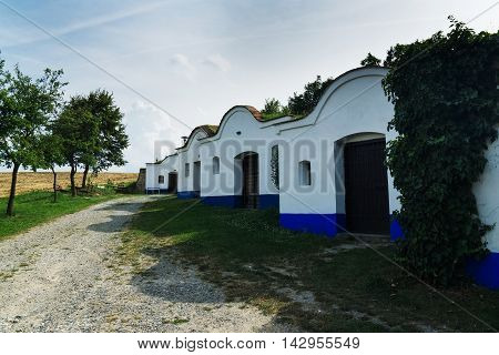 Wine cellars in southern Moravia Czech Republic