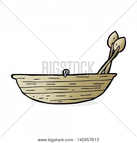 cartoon rowing boat